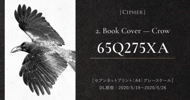 『Cipher』ブックカバー2. プリント予約番号:65Q275XA